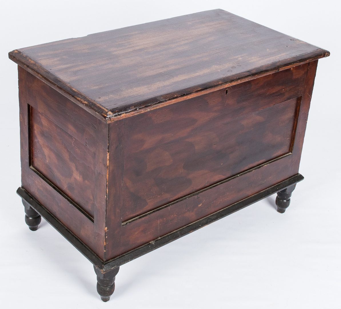 Lot 282: Virginia Diminutive Decorated Blanket Chest & Blanket Box, both w/ Paint