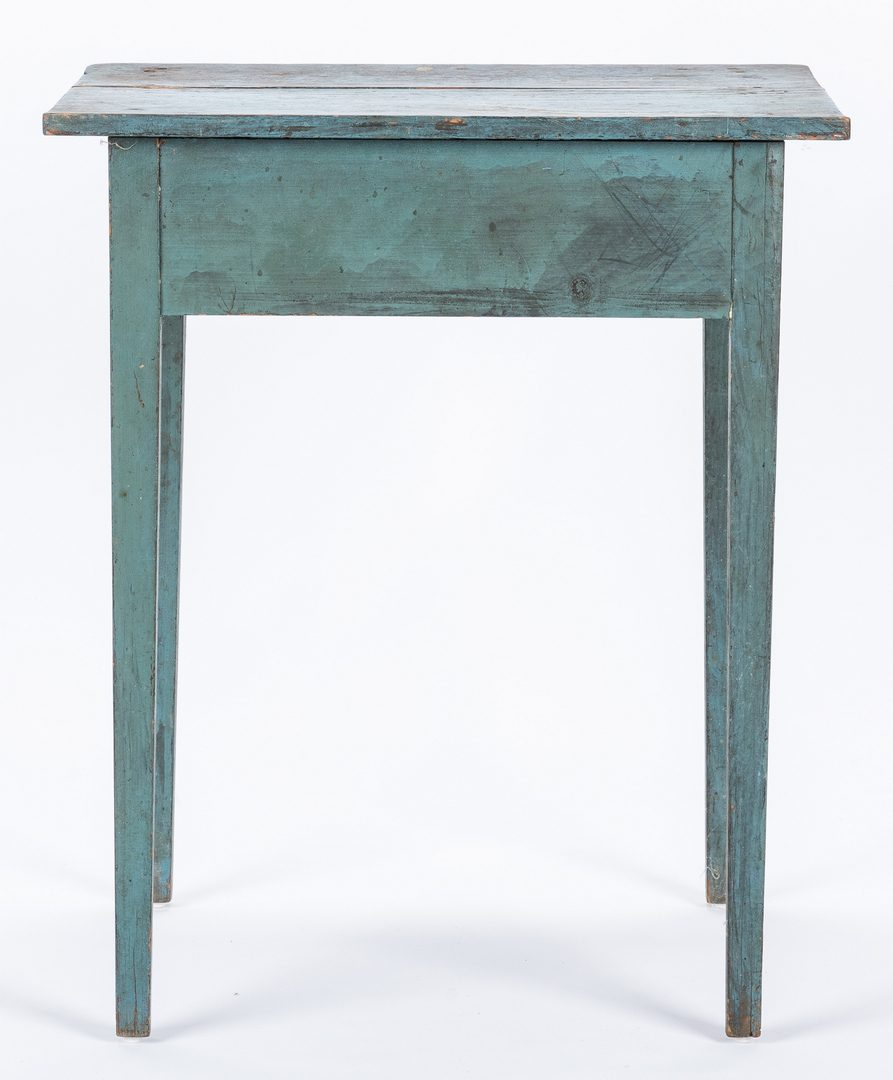 Lot 284: Southern Blue Painted Hepplewhite Stand