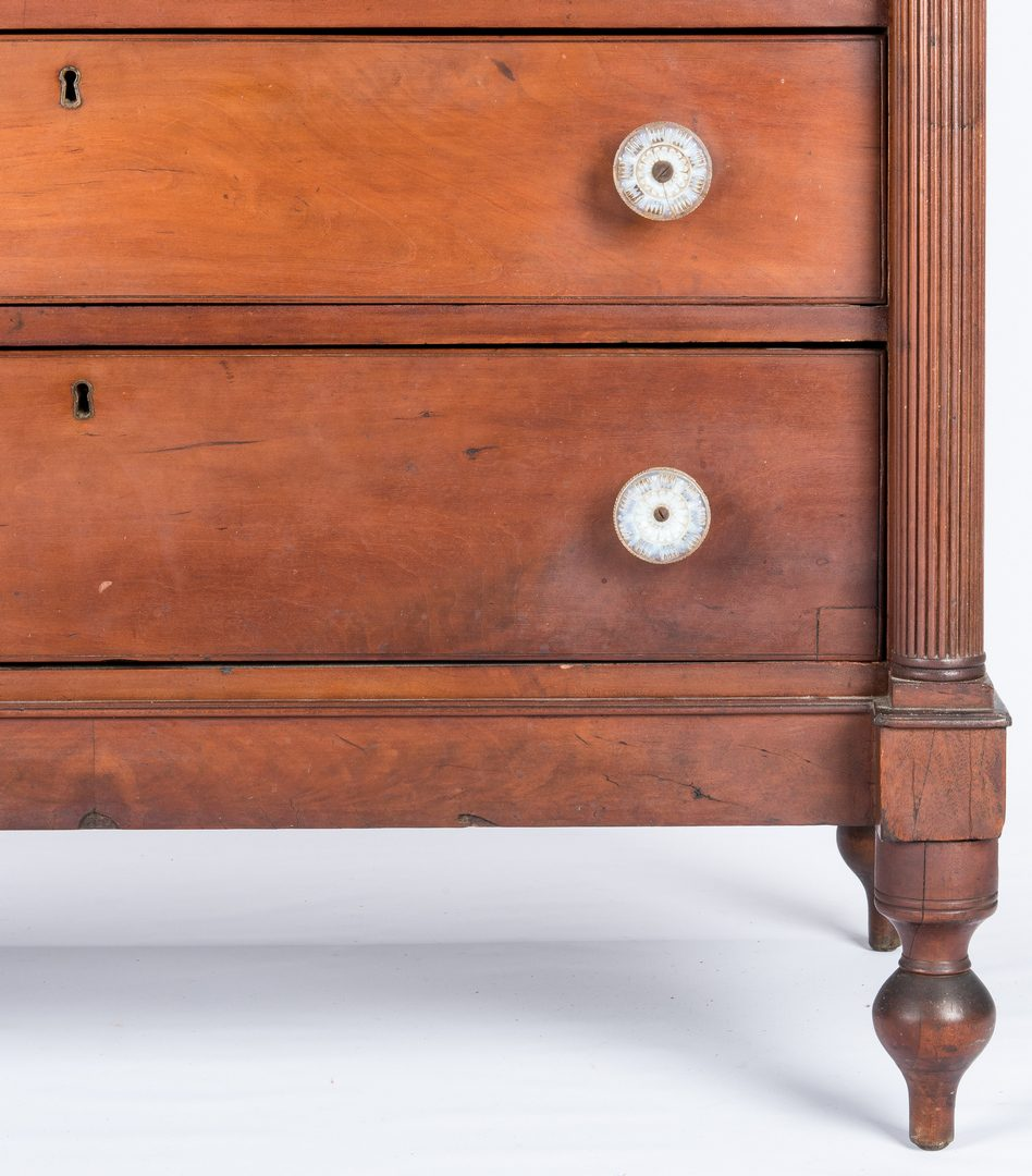 Lot 285: East TN Sheraton Chest of Drawers