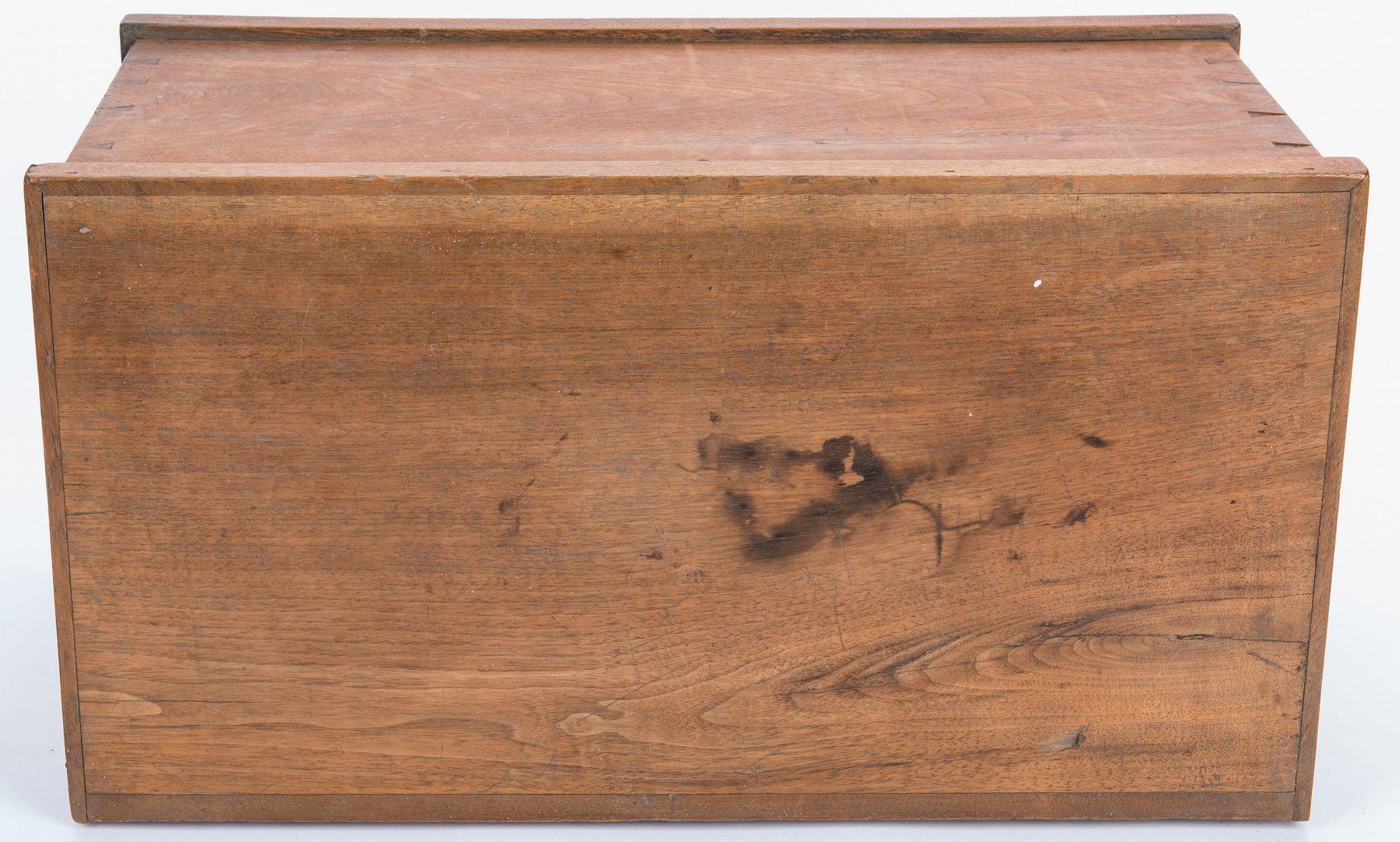Lot 288: Miniature Virginia Walnut Blanket Box