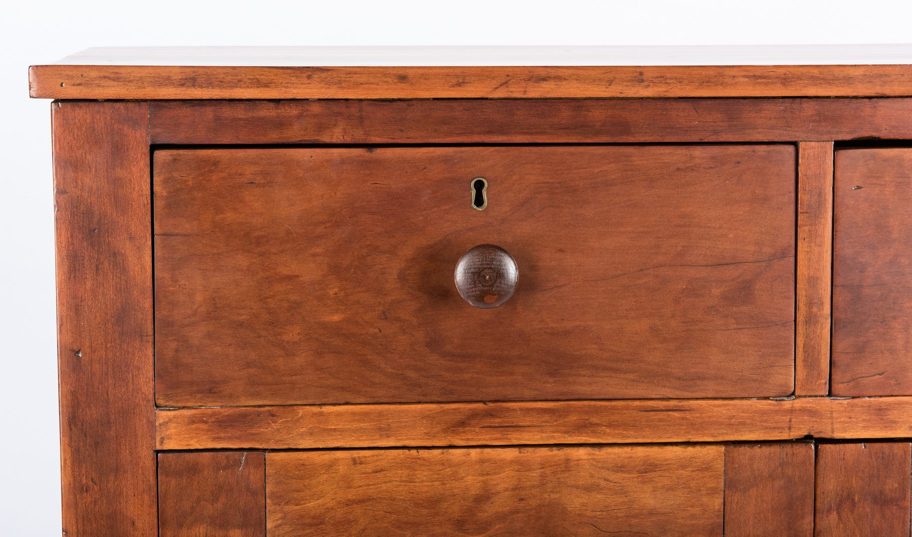 Lot 289: Southern Cherry Two Drawer Press or  Cupboard