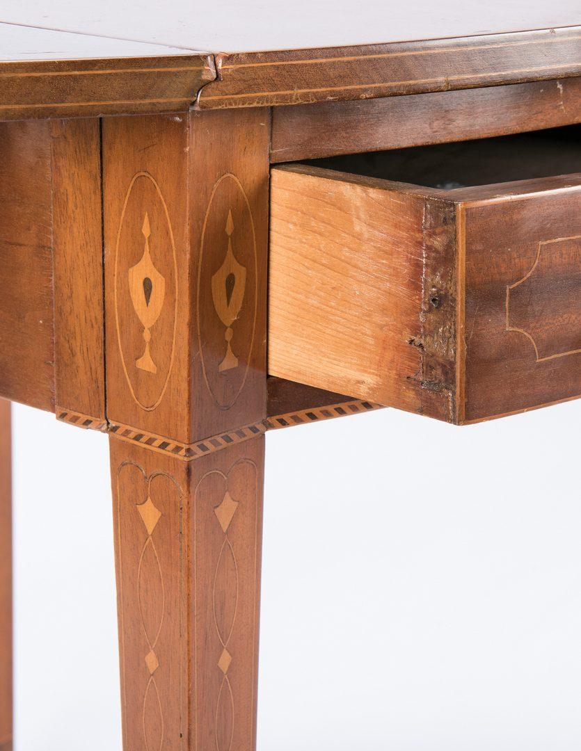 Lot 291: Mahogany Inlaid Federal Pembroke Table