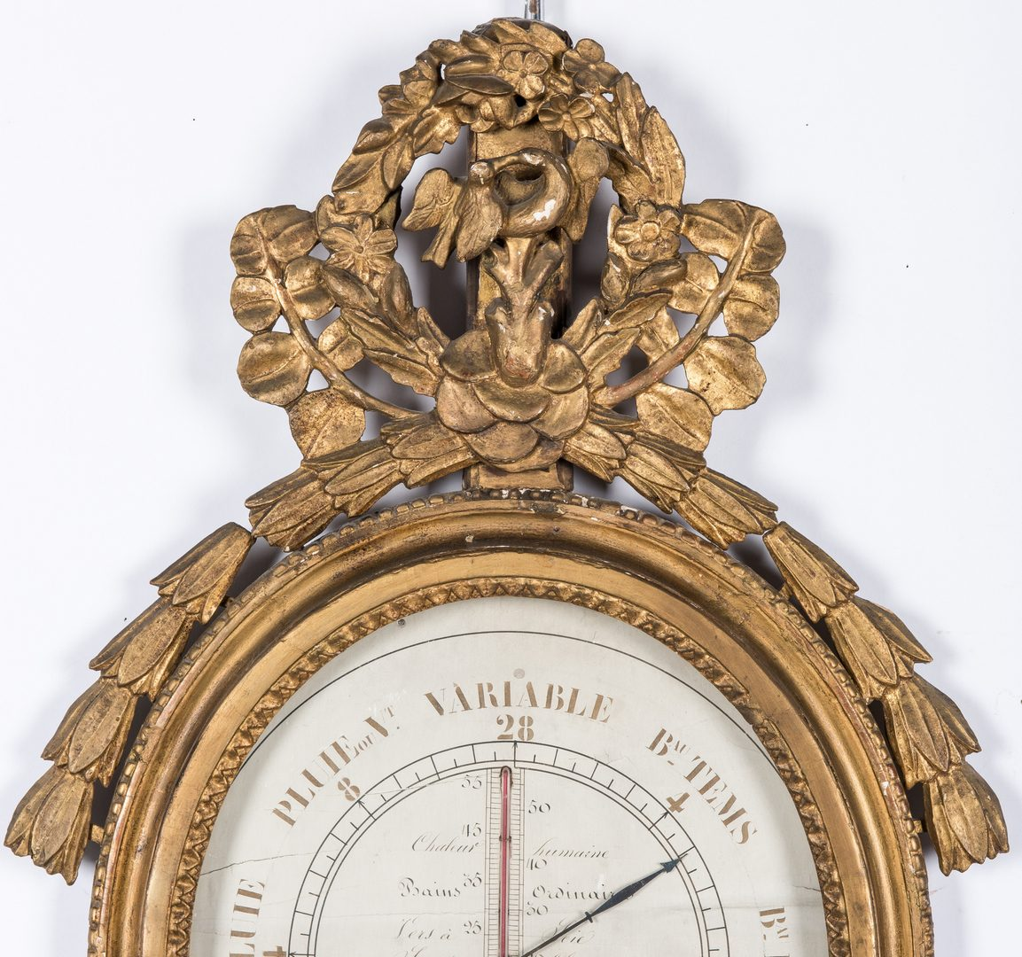 Lot 294: 18th French Gilt Wall Barometer