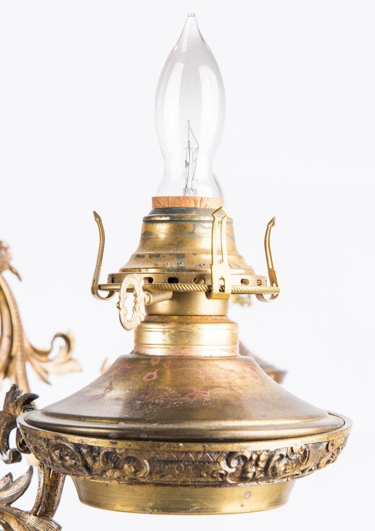 Lot 296: Gilt Bronze Gasolier, electrified