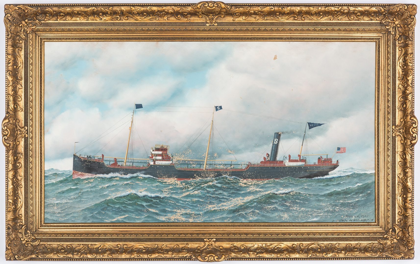 Lot 299: Antonio Jacobsen O/C, The Vesta