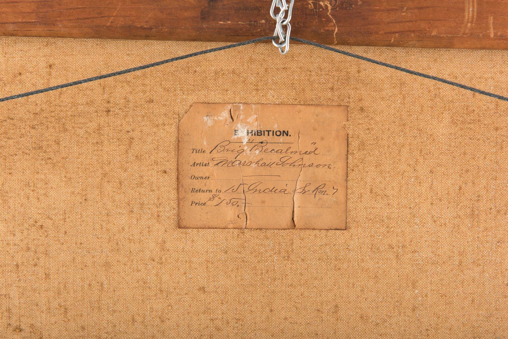 """Lot 301: Marshall Johnson, Jr. O/C, """"Brig Becalmed"""""""