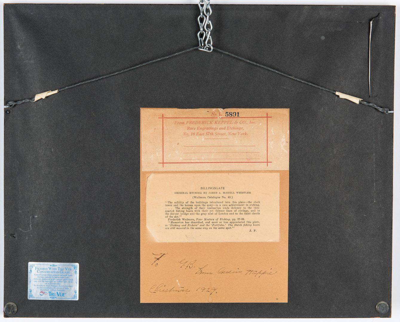Lot 304: James Whistler Etching, Billingsgate