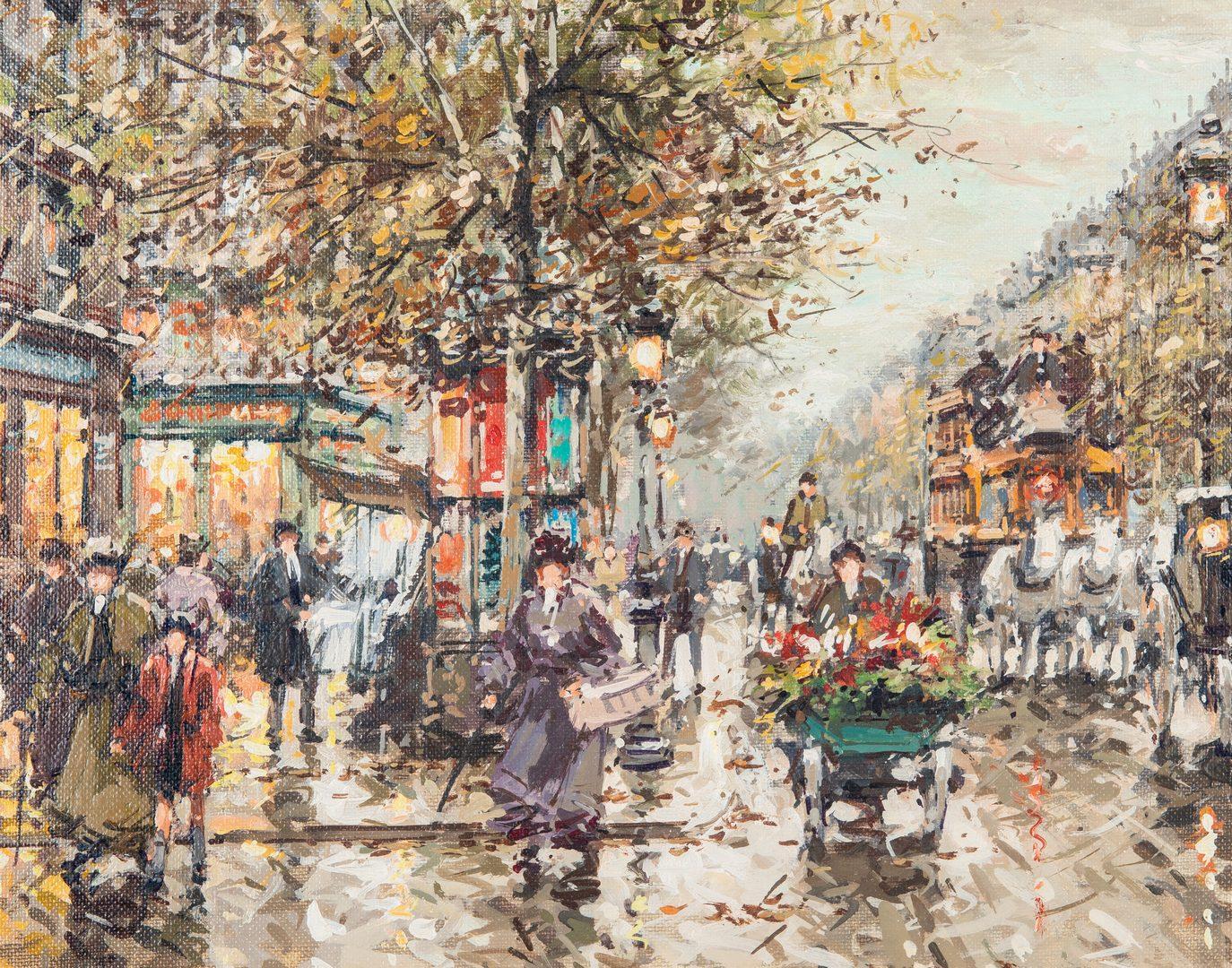 Lot 306: Antoine Blanchard O/C, Le Vaudeville Paris