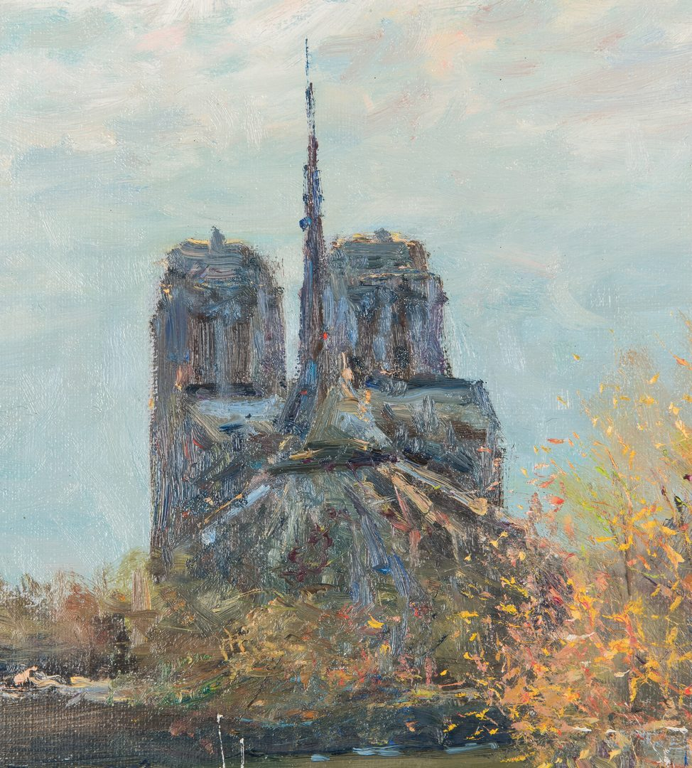Lot 309: Jean Kevorkian O/C, Paris Canal with Notre Dame