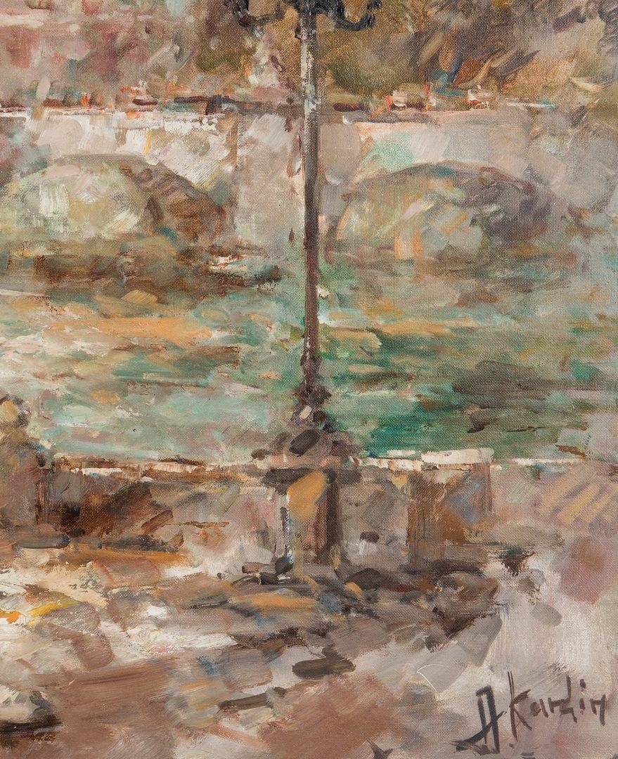 Lot 310: Alexander Kardin O/C, Notre Dame Scene
