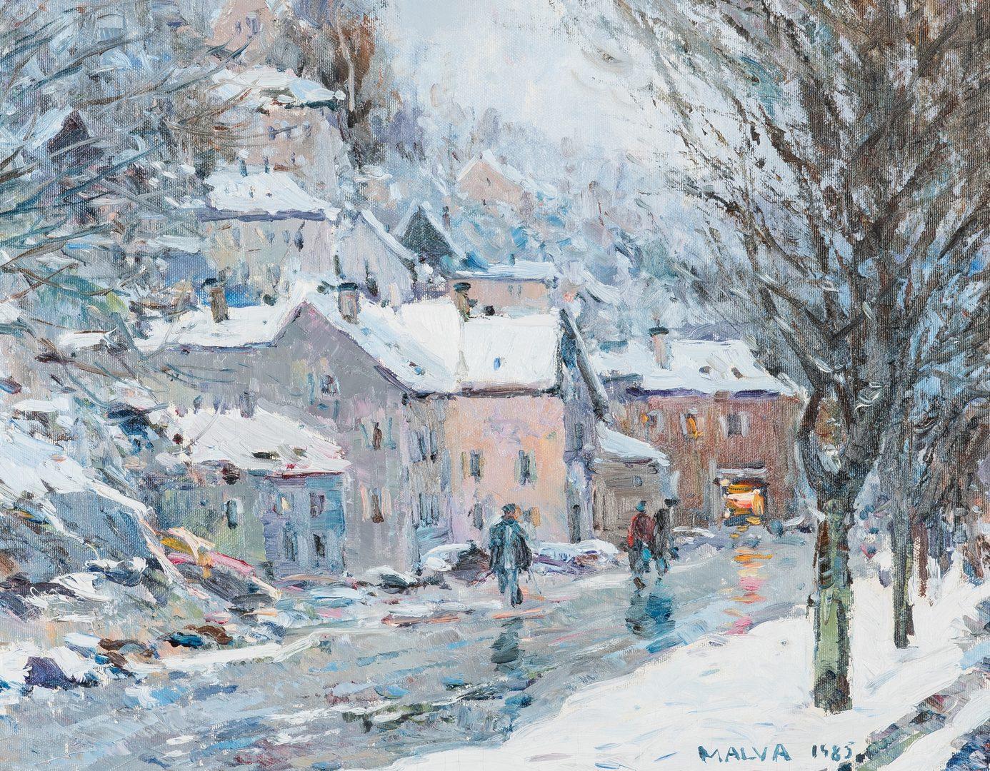 Lot 311: Malva O/C, Winter Landscape Painting