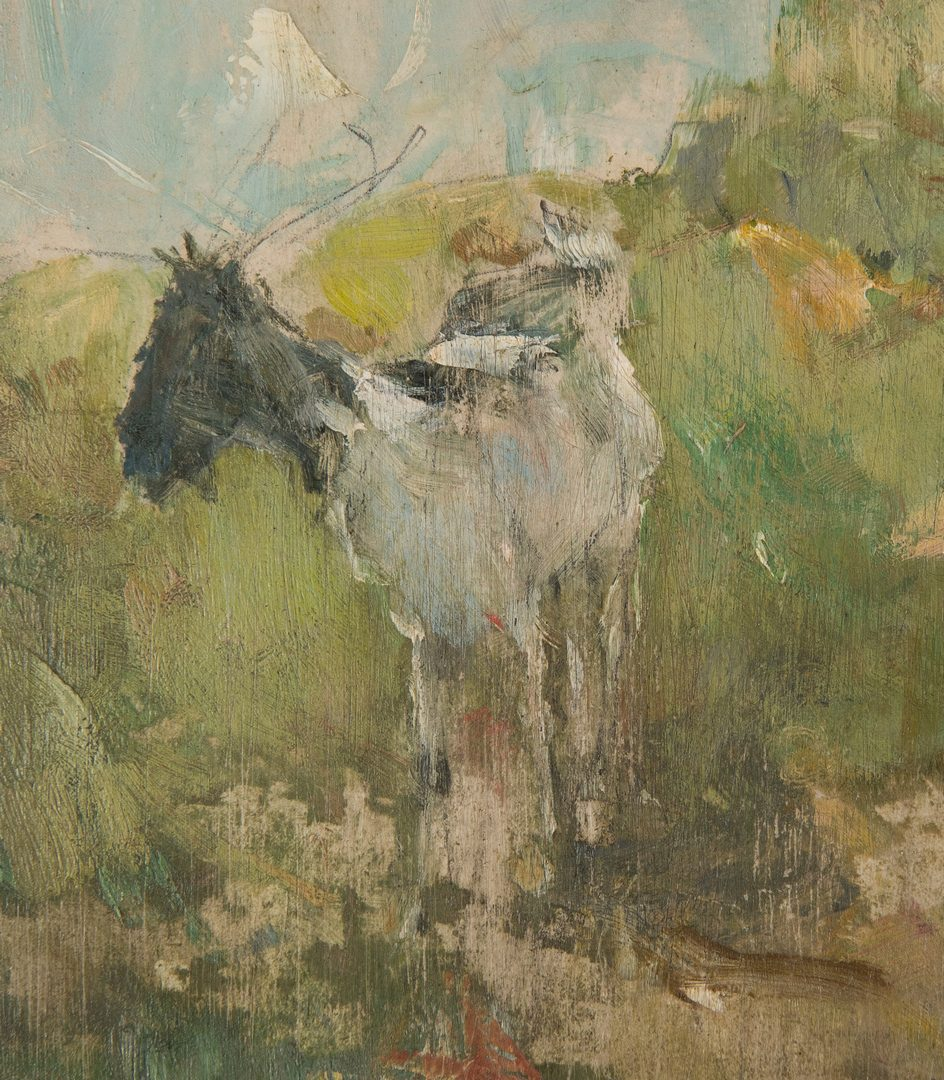 Lot 313: Impressionist Oil on Board, signed McCoy