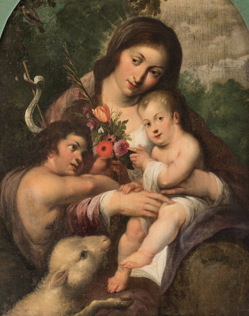 Lot 316: Continental School, Madonna and Child with John the Baptist