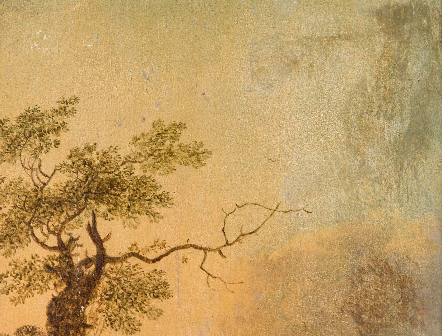Lot 317: Johann Christian Klengel O/B, Landscape w/ Cows