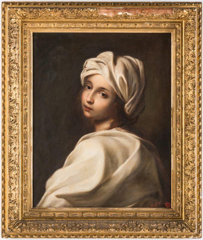 Lot 318: Achille Leonardi Oil on Canvas Portrait