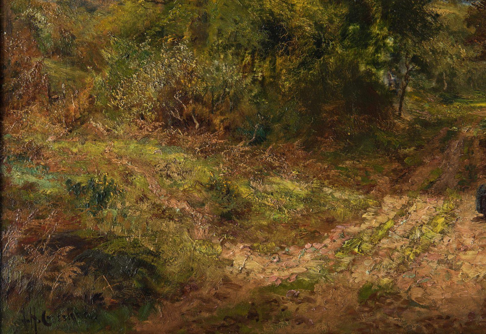 Lot 323: James Henry Crossland O/C Landscape