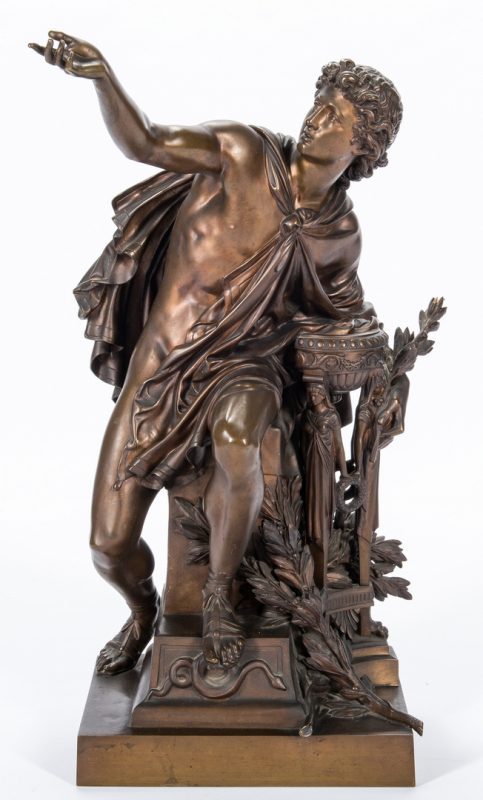 Lot 325: Mathurin Moreau Bronze Sculpture, Apollo