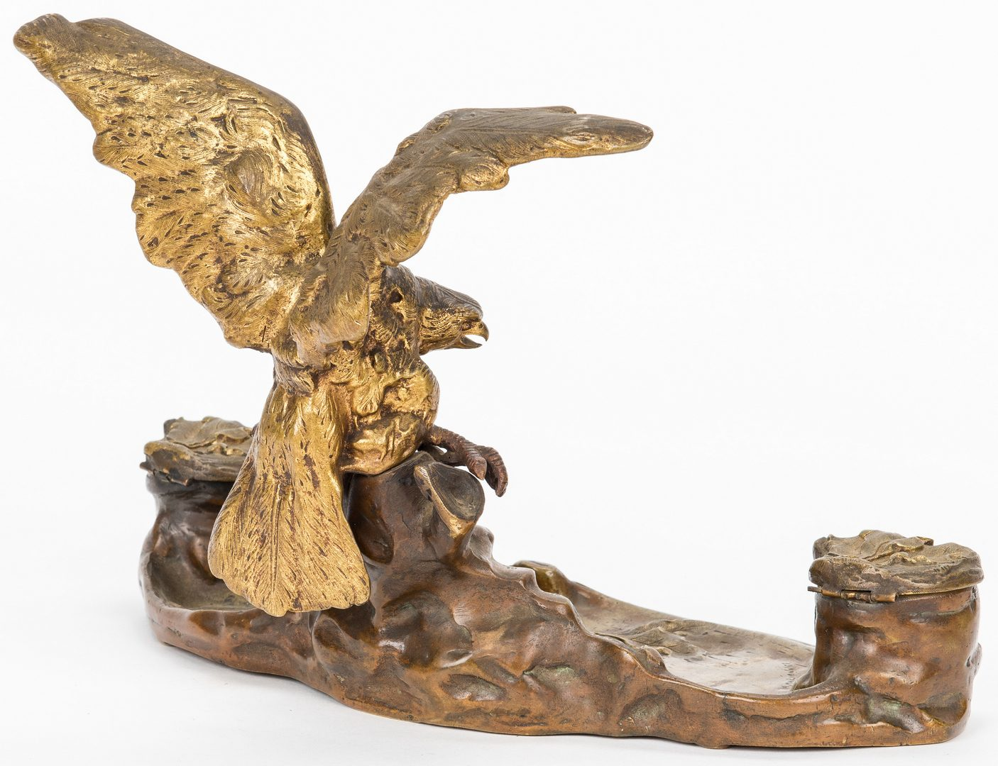 Lot 326: A. Marionnet Bronze Eagle Inkwell