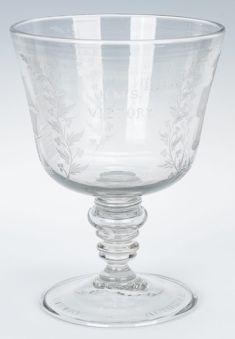Lot 327: Lord Nelson Commemorative Blown Glass Compote