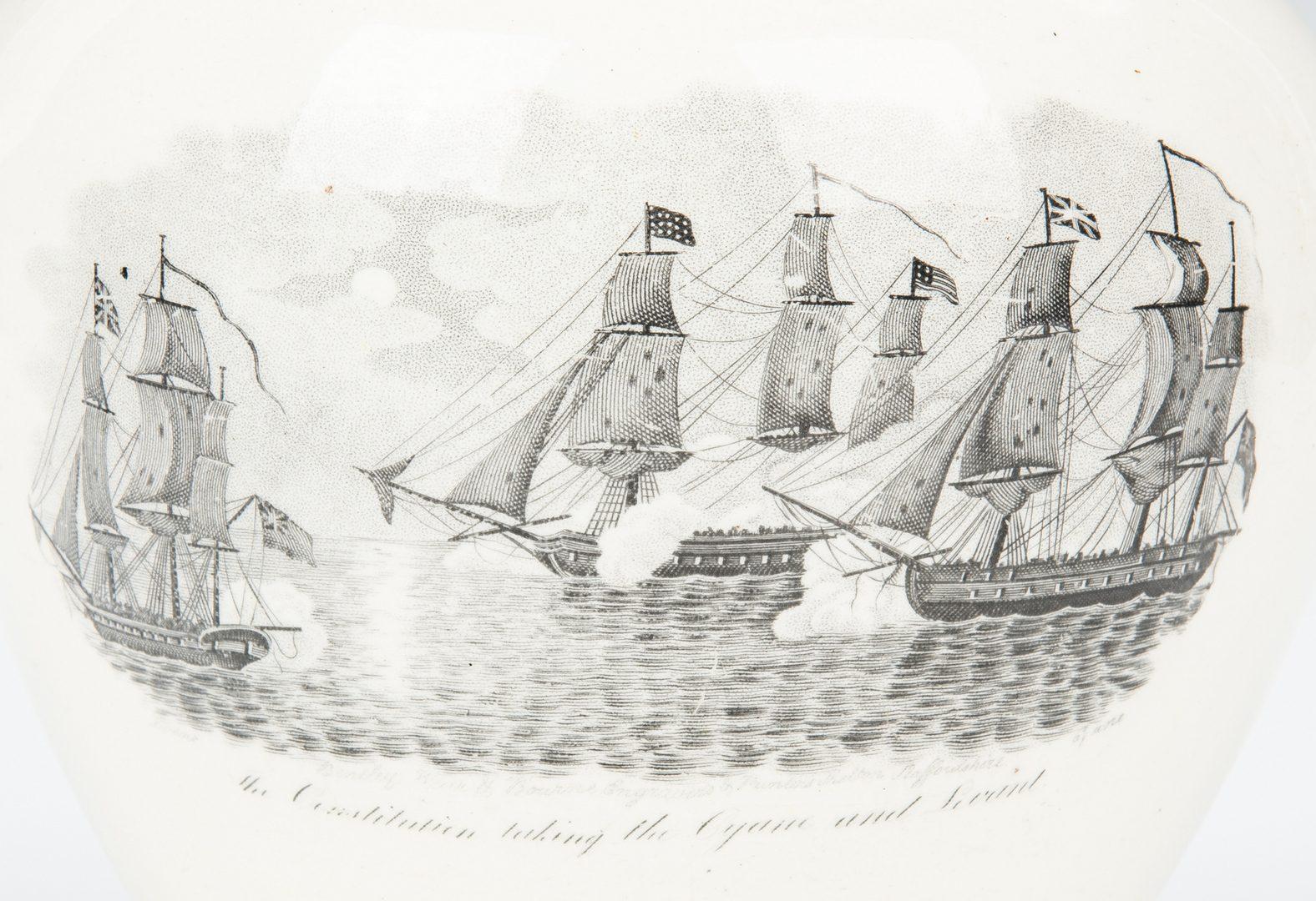 Lot 332: War of 1812 Historical Staffordshire Lustre Ware Jug