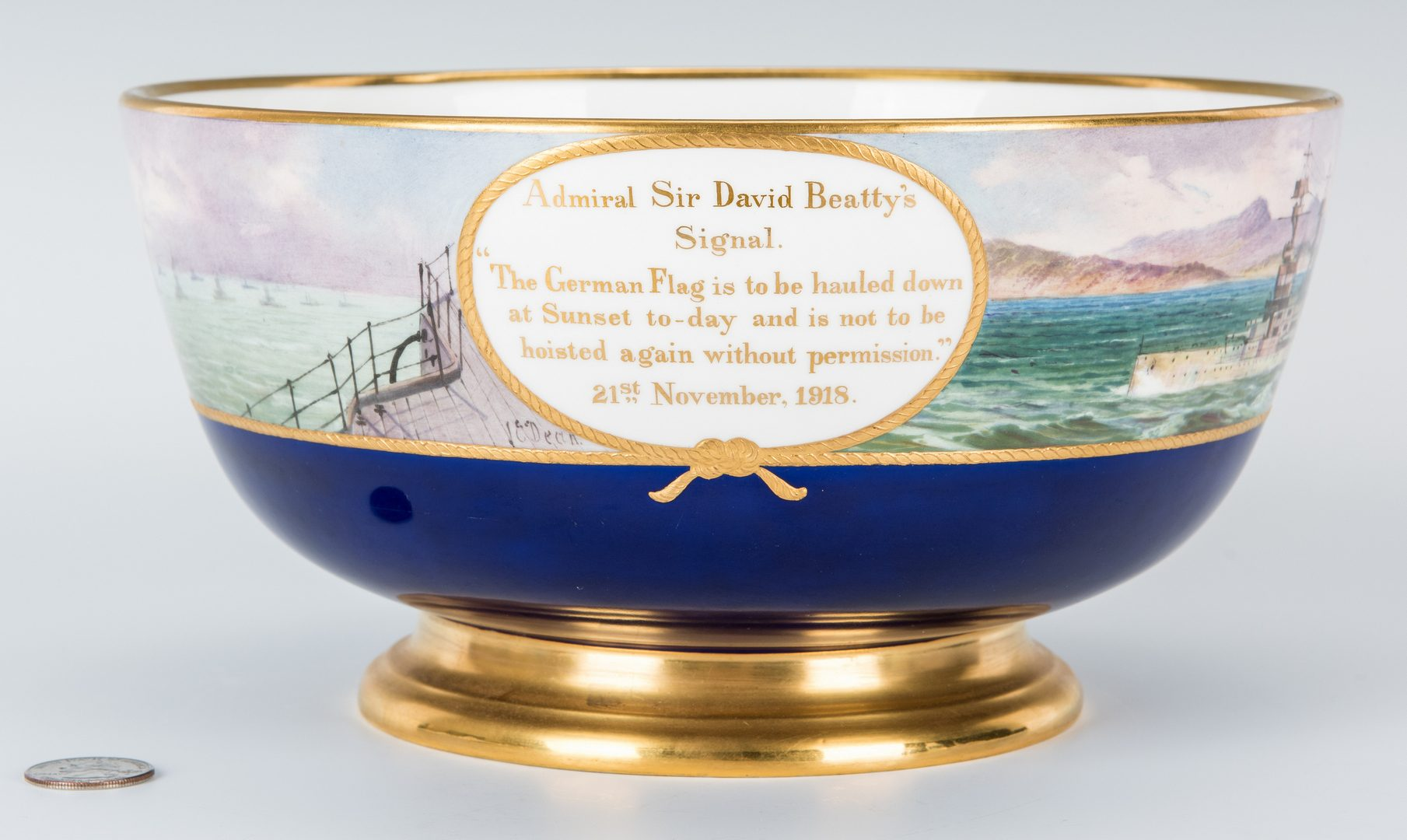 Lot 333: Minton Commemorative Porcelain Bowl
