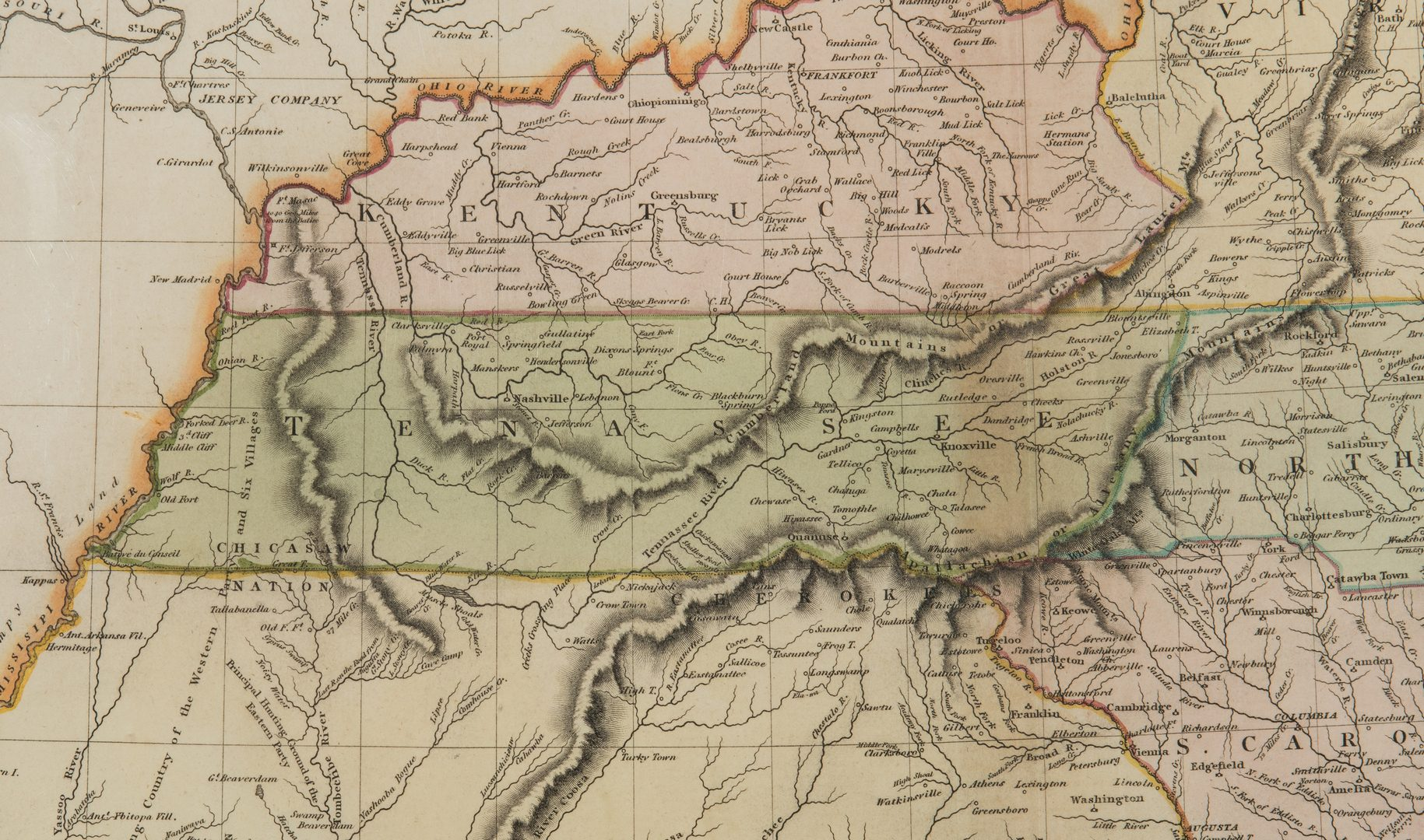 Lot 335: Thomson/Hewitt Map, 1817 Southern Provinces of US