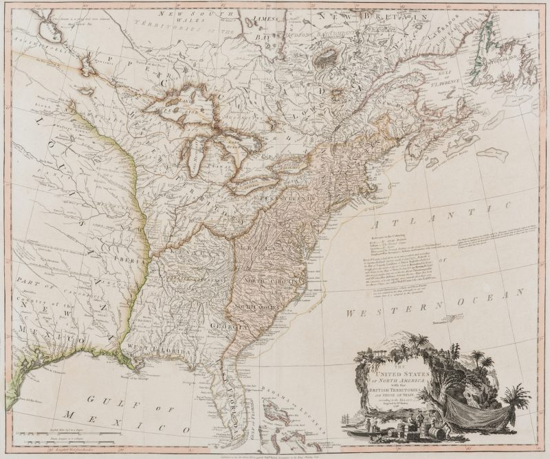 Lot 336: Faden N. America Map, 1796, Franklinia