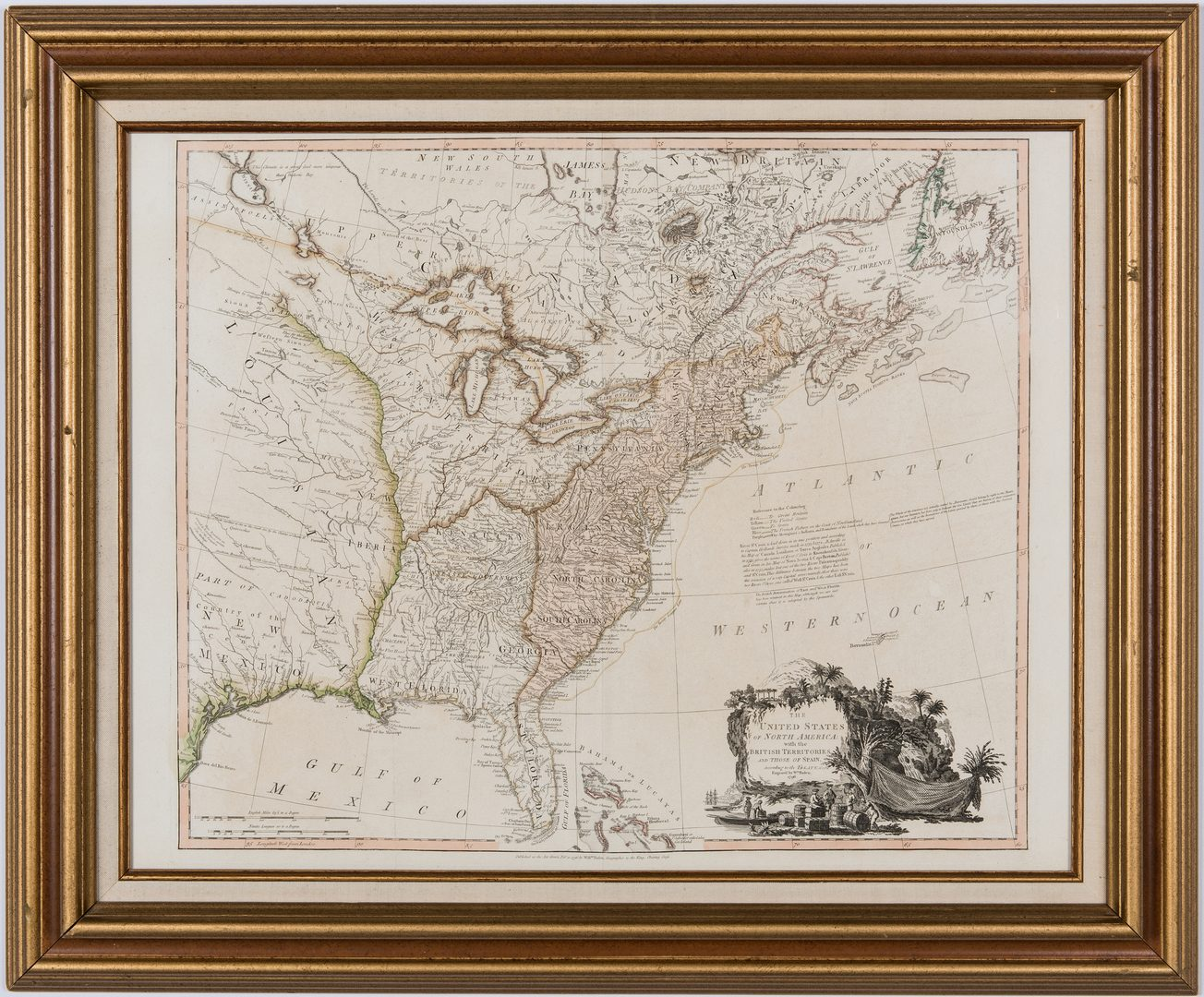Lot 336: Faden N. America Map, 1796, Franklinia
