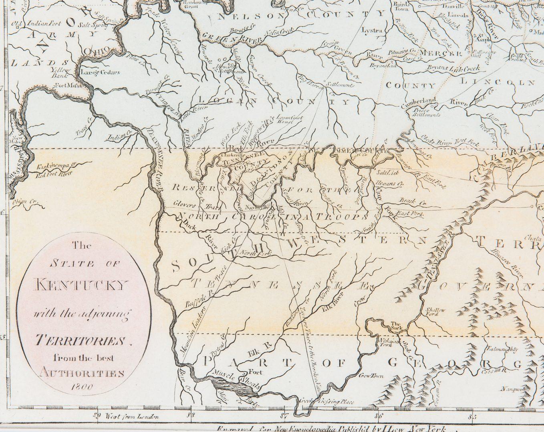 Lot 341: John Payne Kentucky Map, 1800