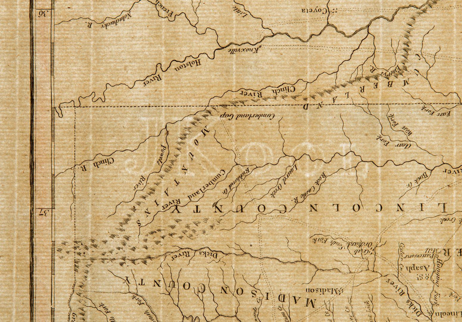 Lot 342: John Reid Kentucky Map, 1795