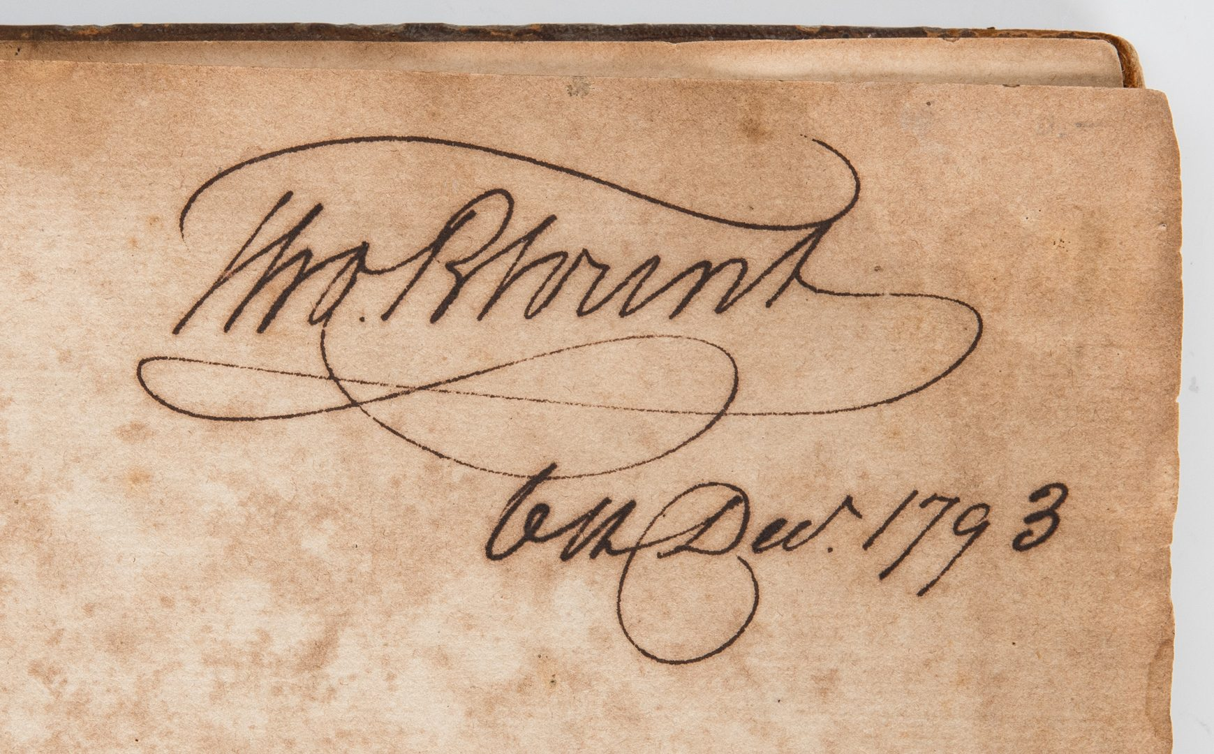 Lot 347: 3rd Session U.S. Senate, Thos. Blount Owned, KY related