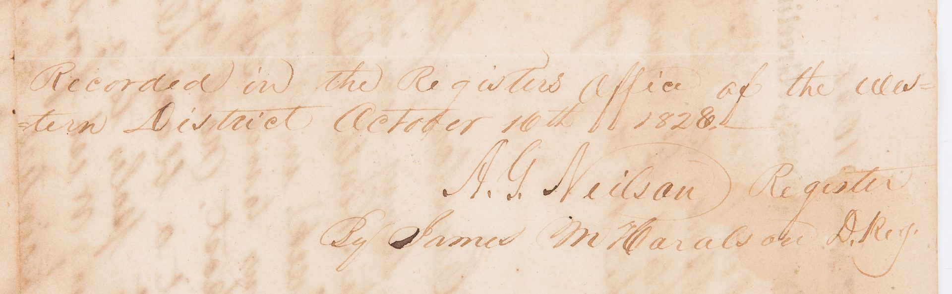 Lot 352: Sam Houston Signed Land Grant, 1828