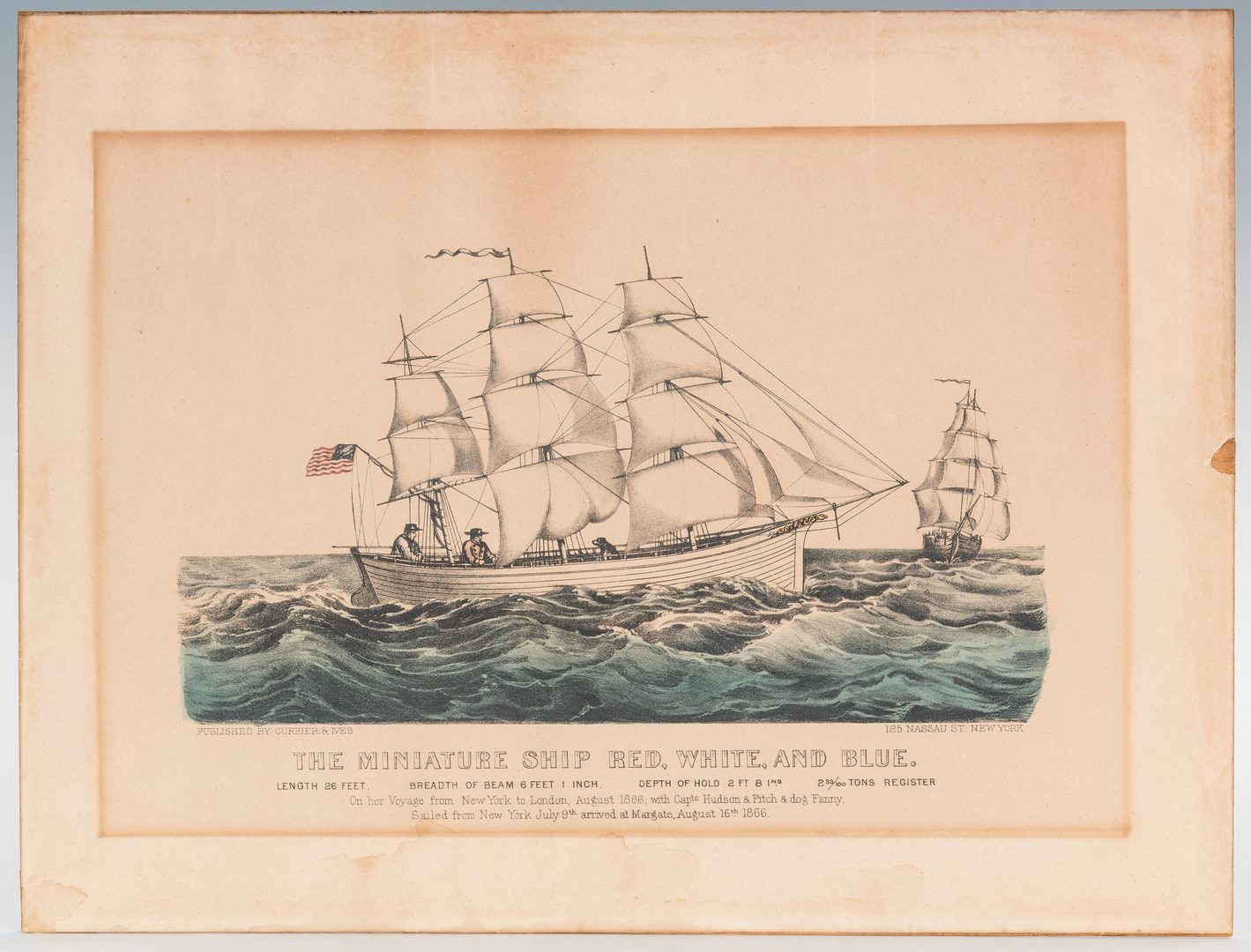 Lot 359: Nautical Archive, Ship Horn of The Red White & Blue