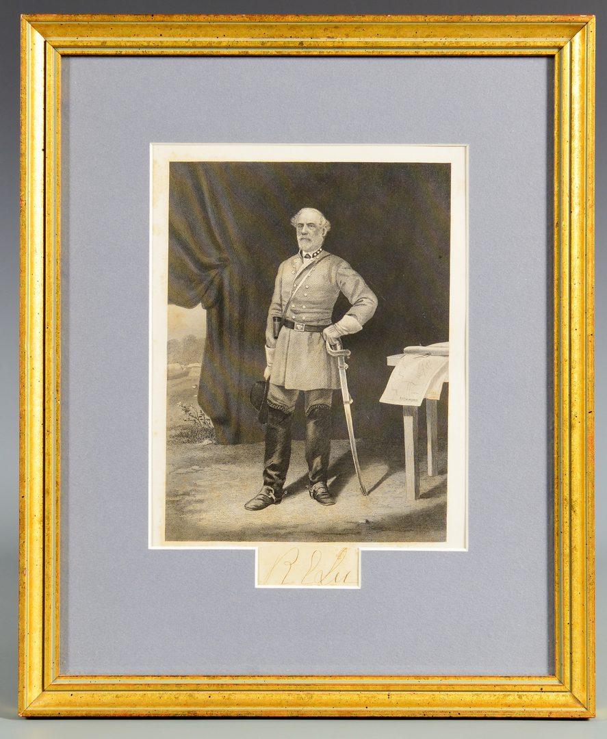 Lot 362: Robert E. Lee Cut Signature & Engraving