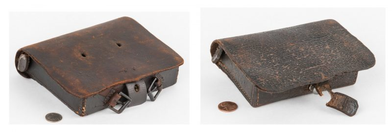 Lot 367: 2 Virginia Confederate Cartridge Boxes