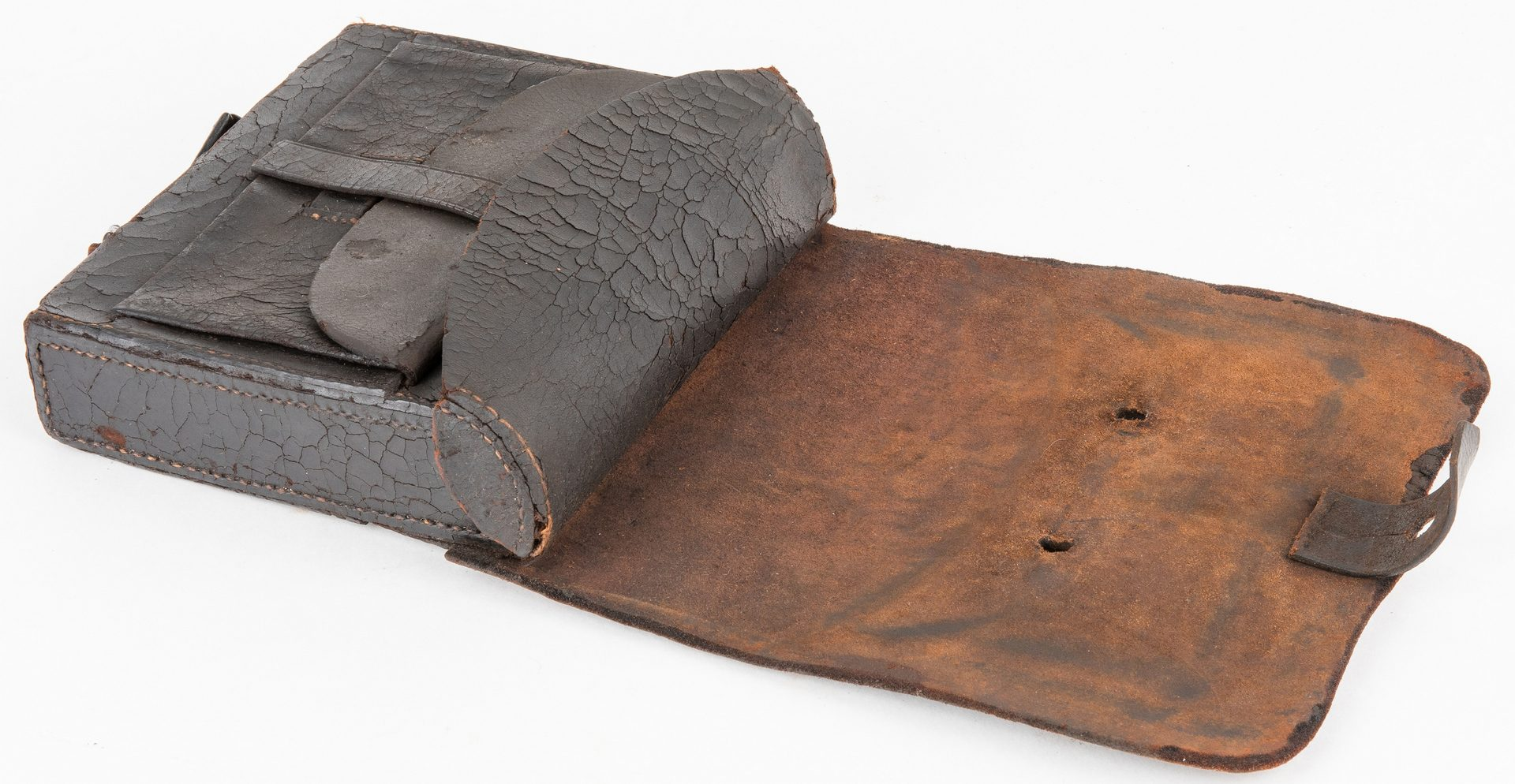 Lot 367: 2 Virginia Confederate Cartridge Boxes