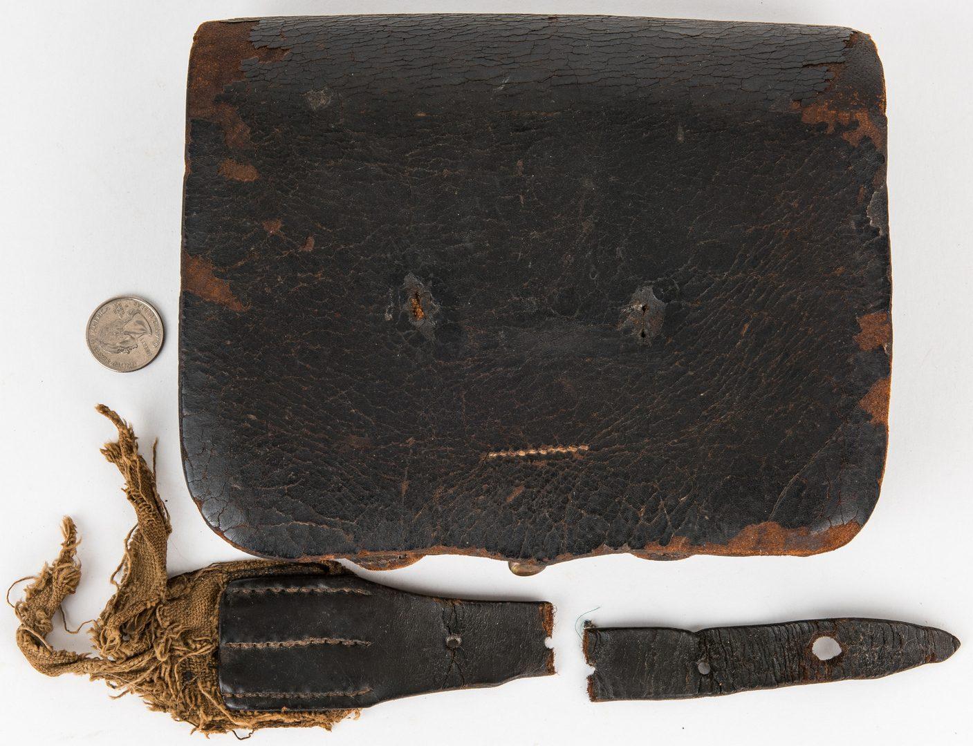 Lot 368: 2 Confederate Cartridge Boxes, 1 Cap Box
