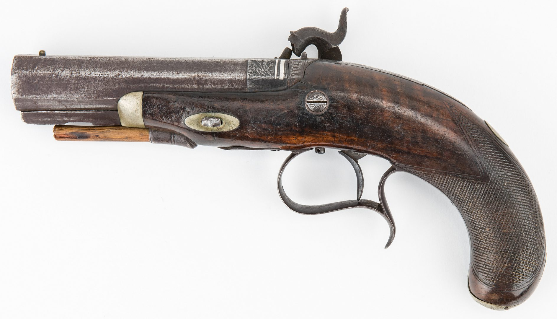 Lot 373: Libeau New Orleans marked Percussion Pocket Pistol