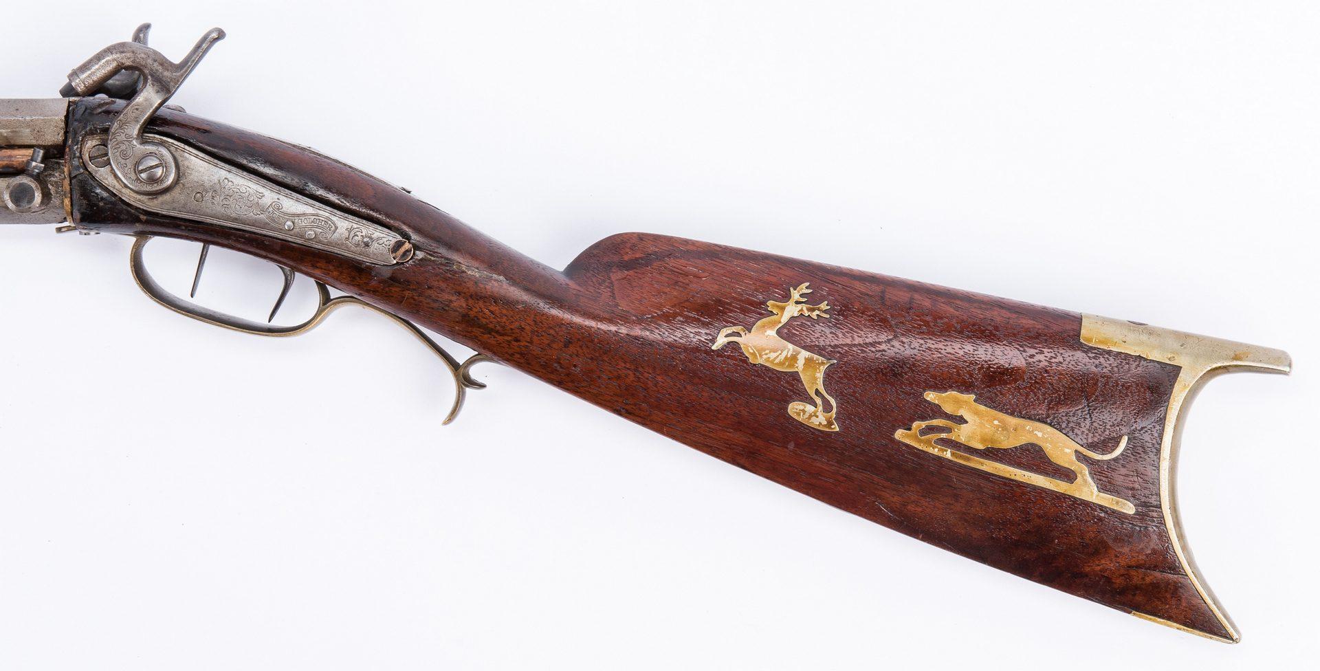 Lot 375: Inlaid O/U rifle plus TN Bayonet