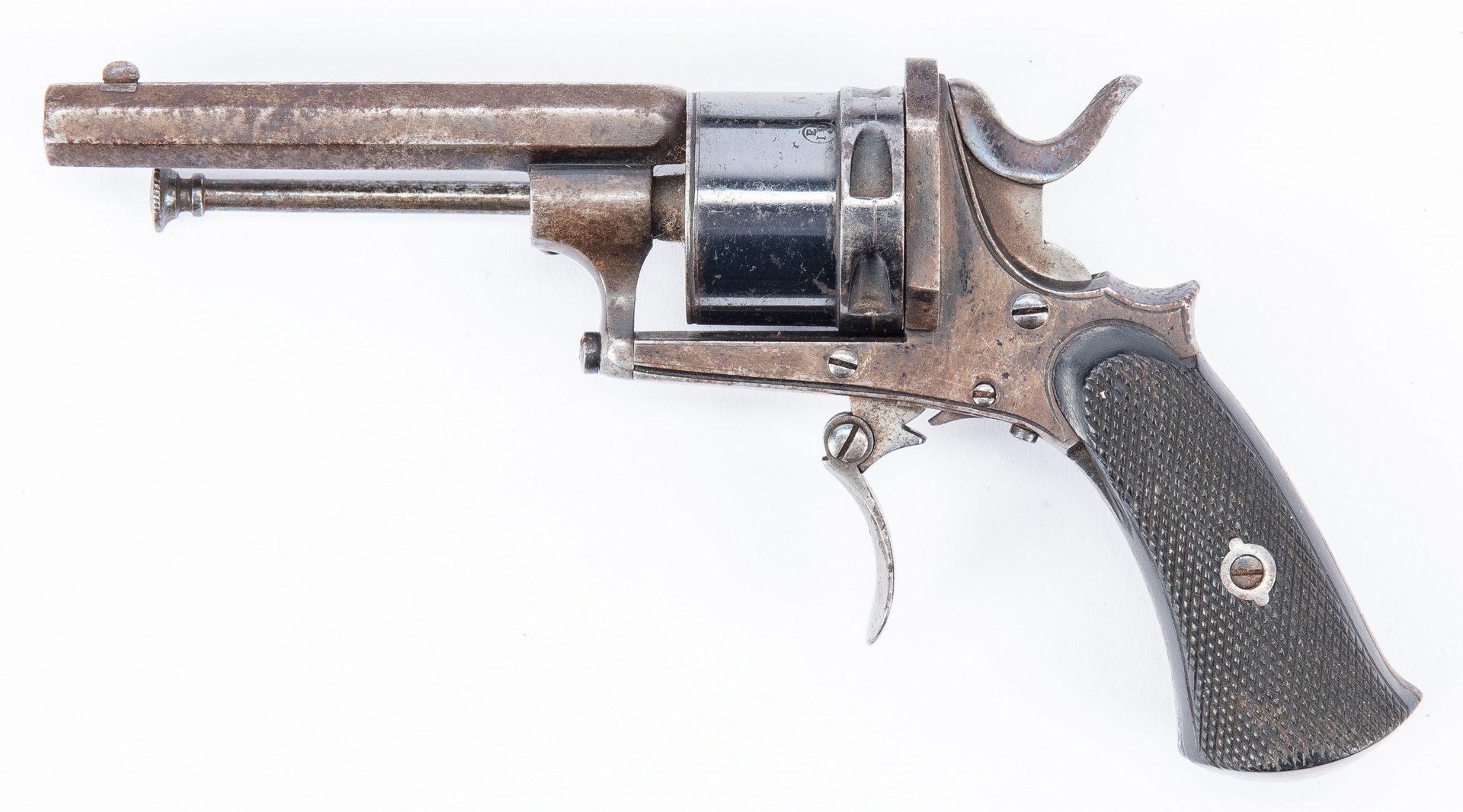 Lot 376: 2 19th Cent. Firearms, incl. J. H. Johnston &  G. Mercenier