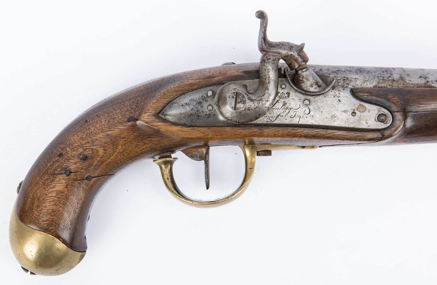 Lot 377: French Maubeuge Arsenal Percussion Pistol, 69 cal