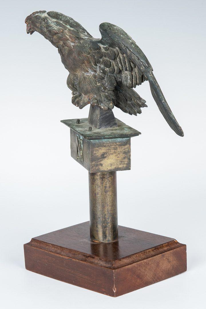 Lot 378: Bronze Eagle Flag Finial