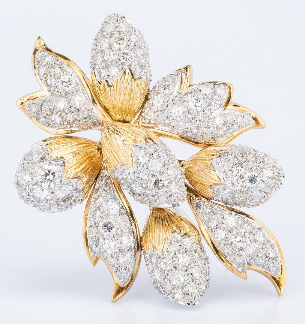 "Lot 37: Tiffany Diamond ""En Tremblant"" Petal Pin"