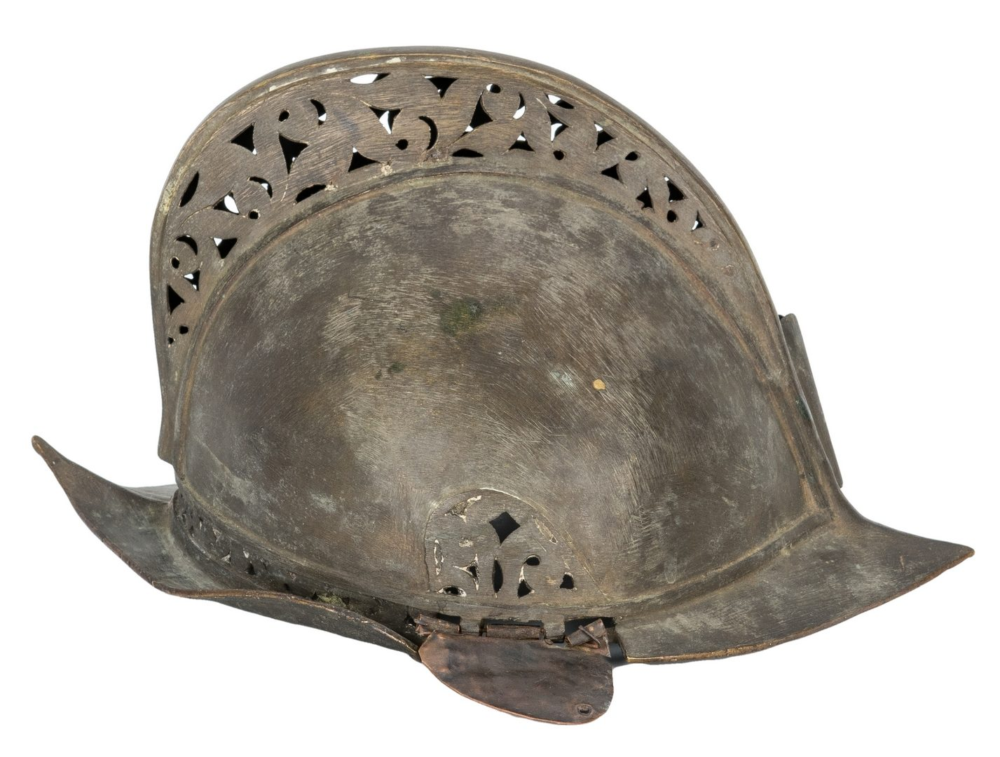 Lot 381: 18th Century Moro Burgonet Helmet