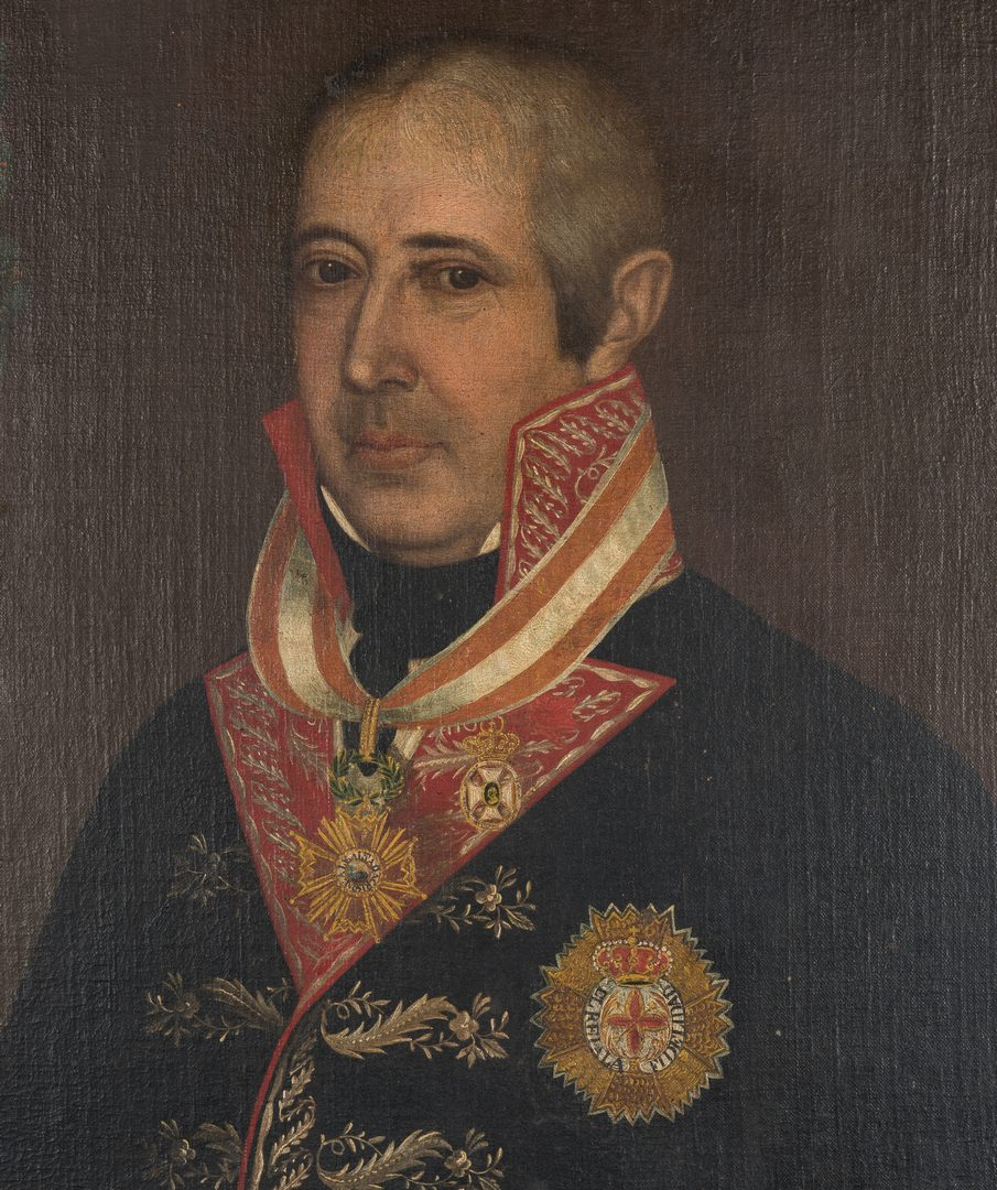 Lot 382: Portrait of a Spanish Colonial Officer