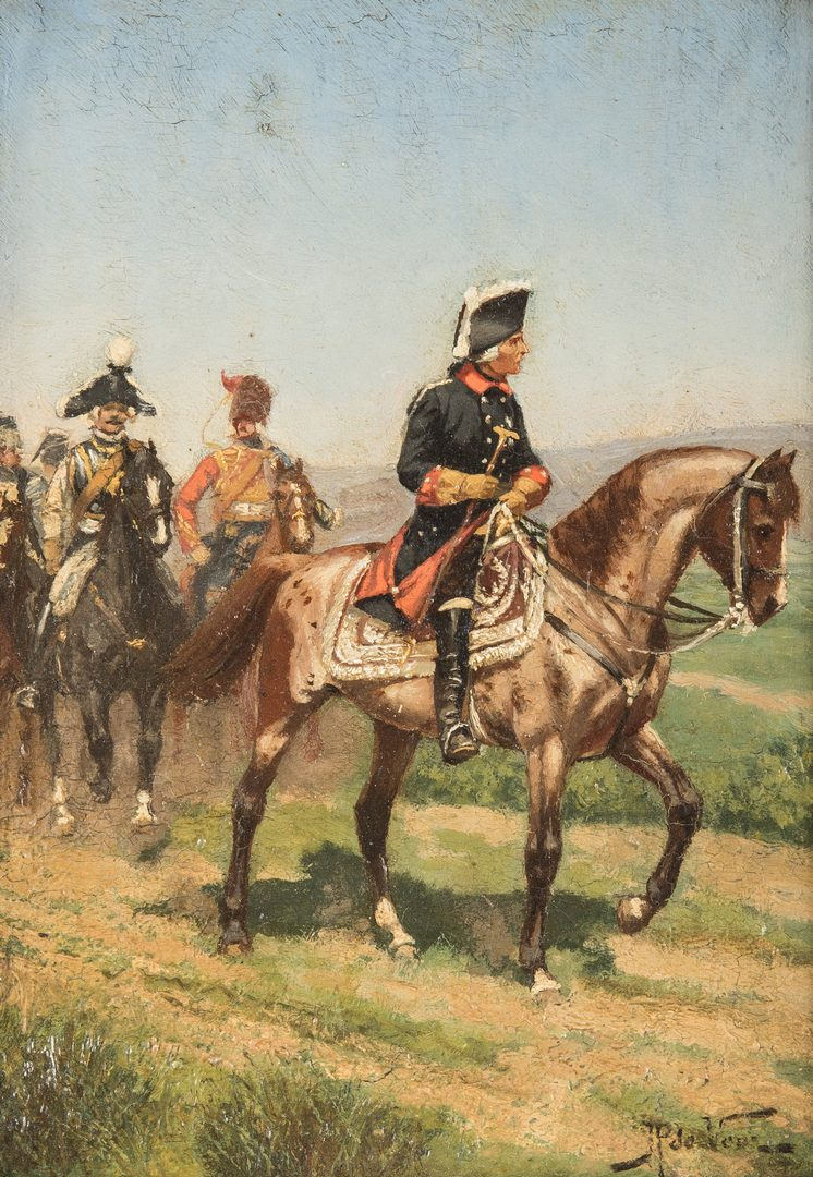 Lot 386: Justus de Veer Military Painting