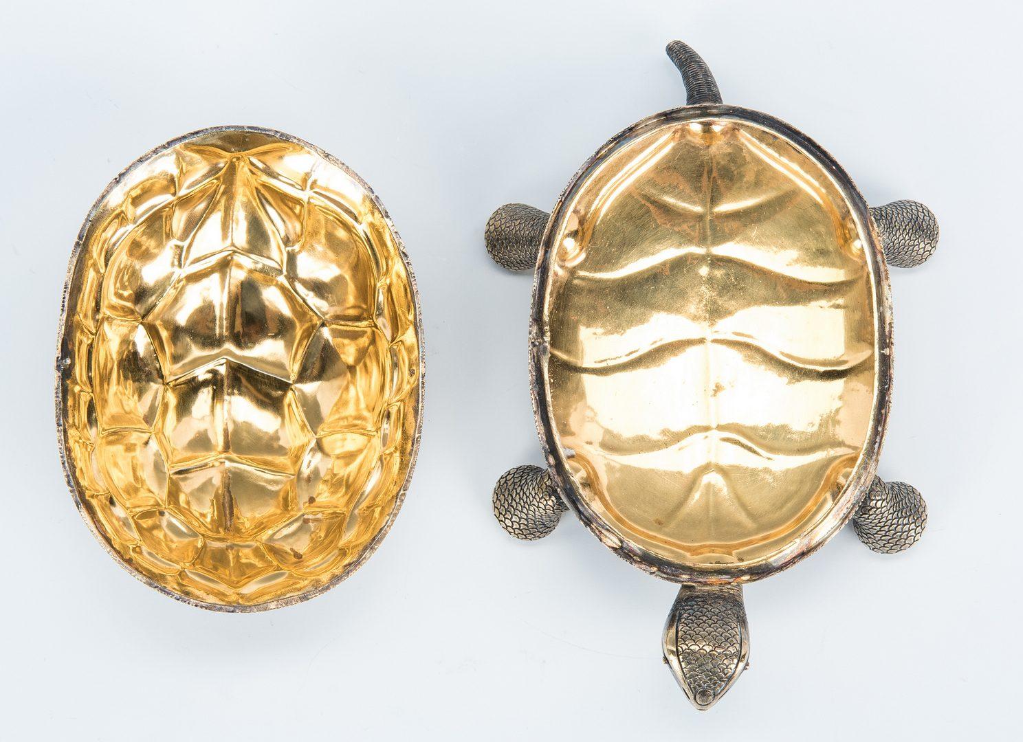 Lot 391:  Tiffany Gilt Sterling Turtle Box