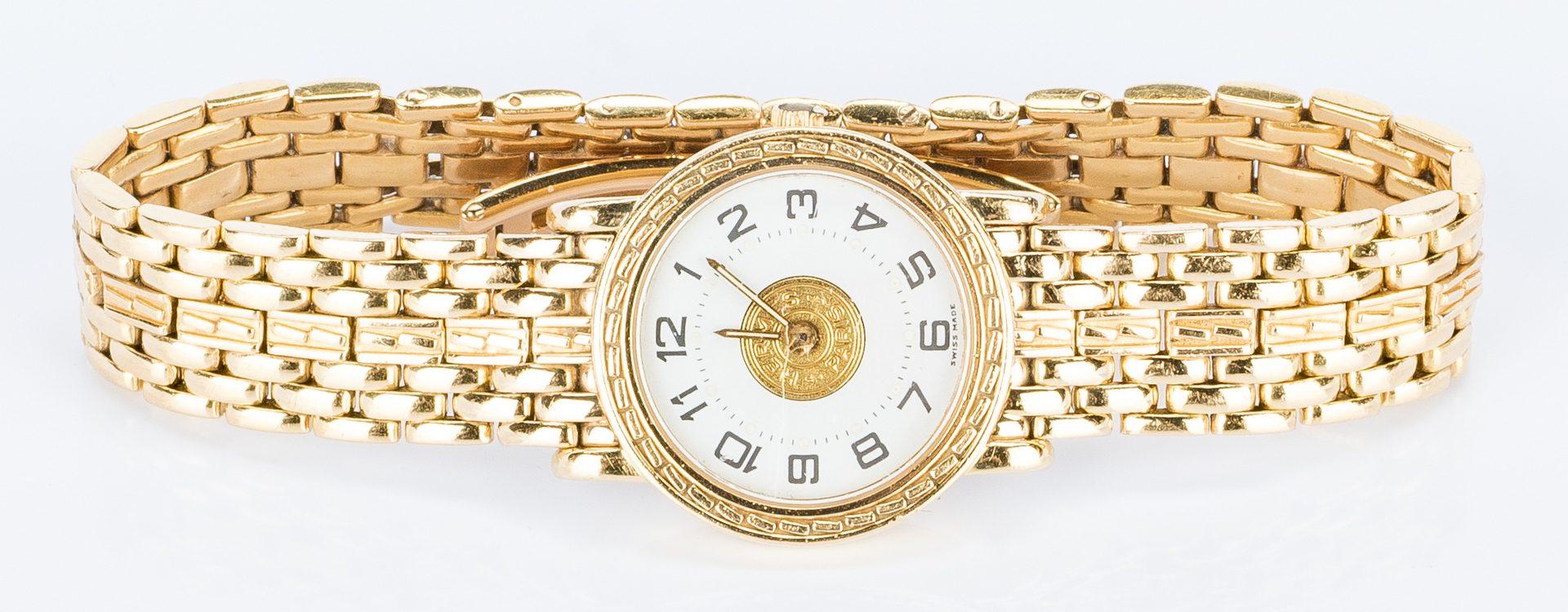 Lot 394: Lady's 18k Hermes Sellier Wrist Watch