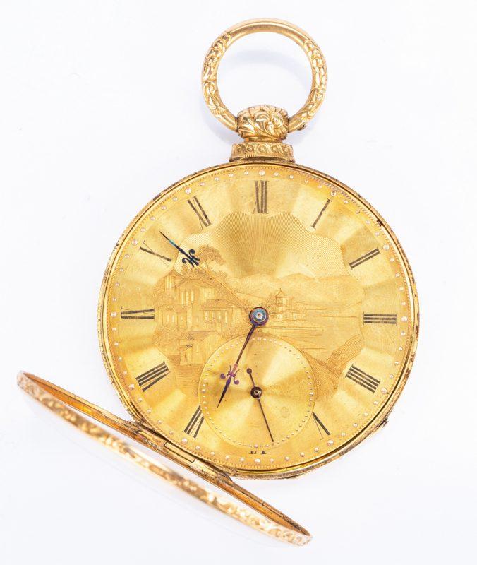 Lot 395: 18k Arnold Adams Pocket Watch
