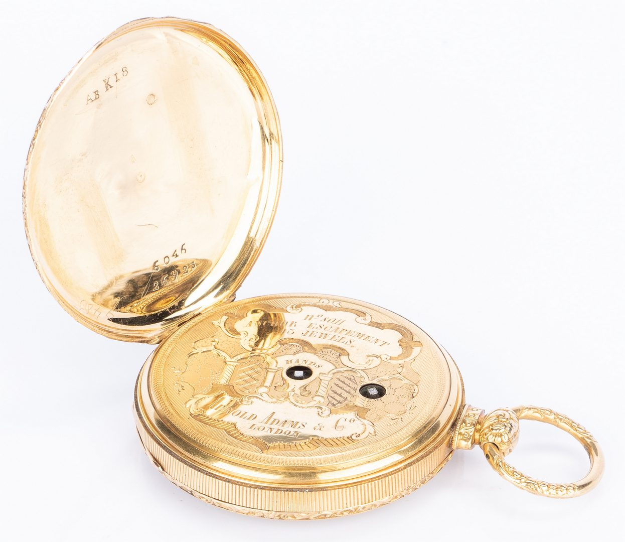 Lot 395: 18k Arnold Adams Pocket Watch